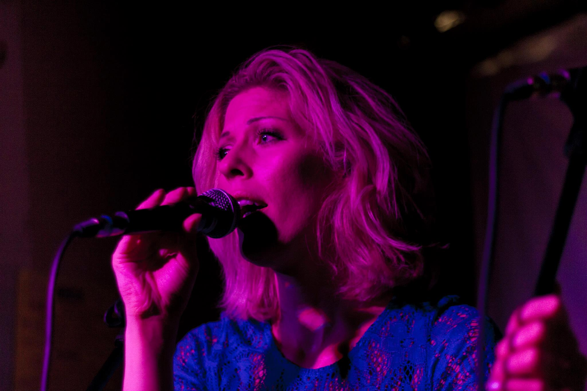 AVAKHAN Lead singer Ava Eckermann at Powers Bar in London