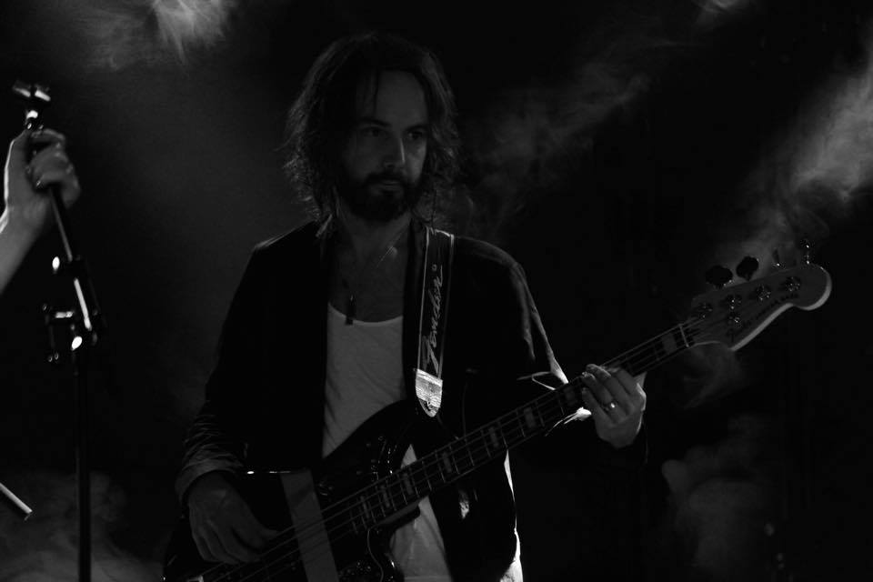 AVAKHAN Bass player Kristoffer Jonsson at Debaser Strand in Stockholm.