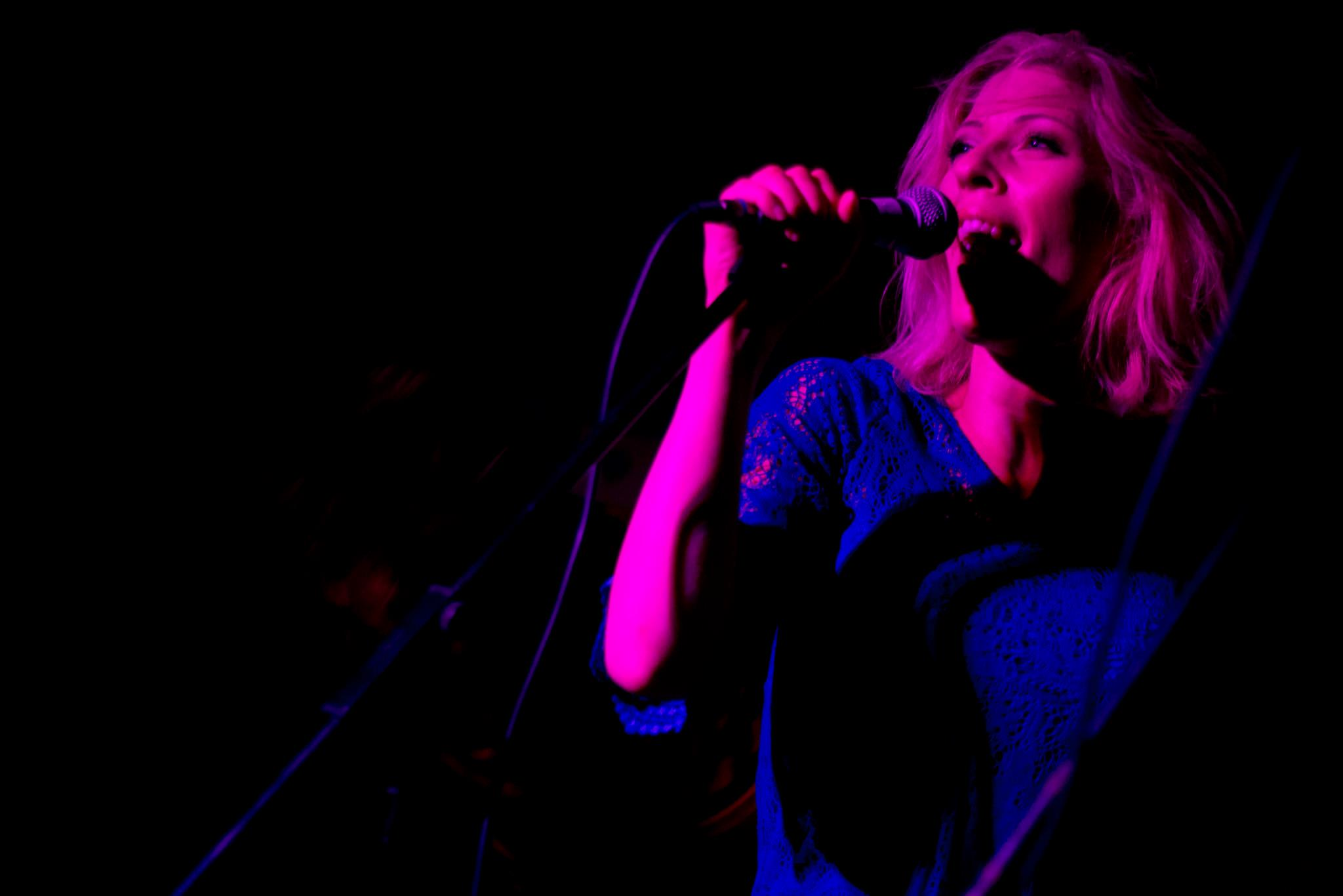 AVAKHAN Lead singer Ava Eckermann at Powers Bar in London