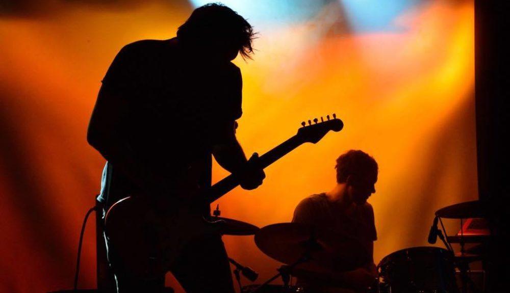 AVAKHAN Guitarist Andreas Wennberg and drummer Joakim Lundgren at Debaser Strand in Stockholm.